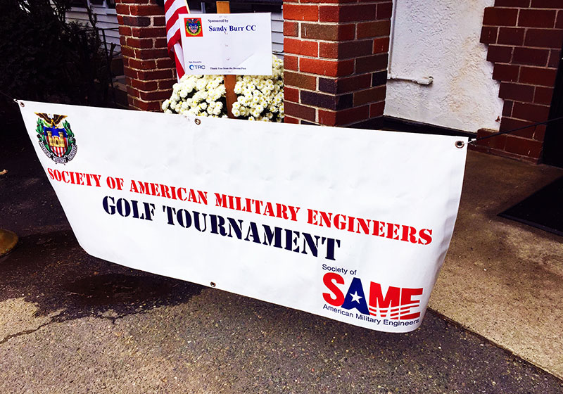 society of american military engineers golf tournament banner