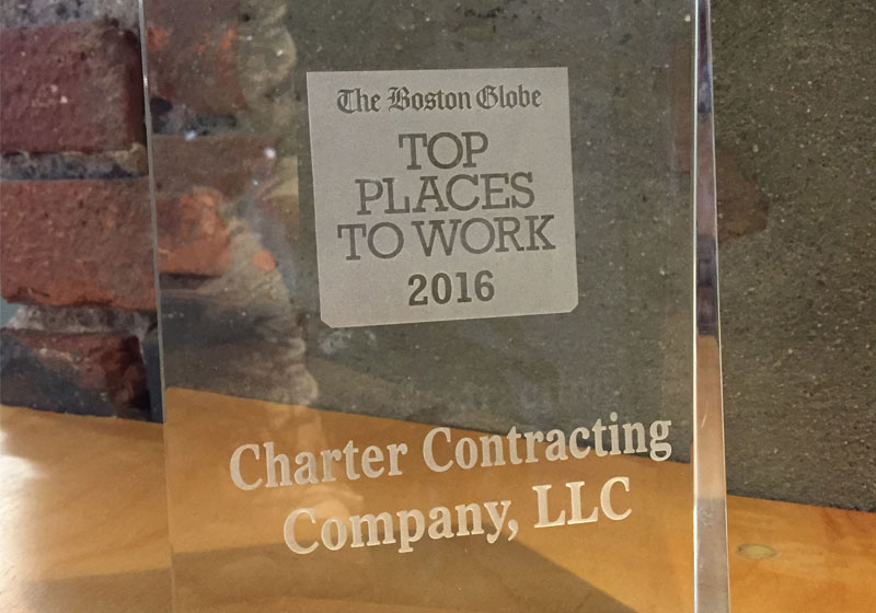 close-up of top places to work award