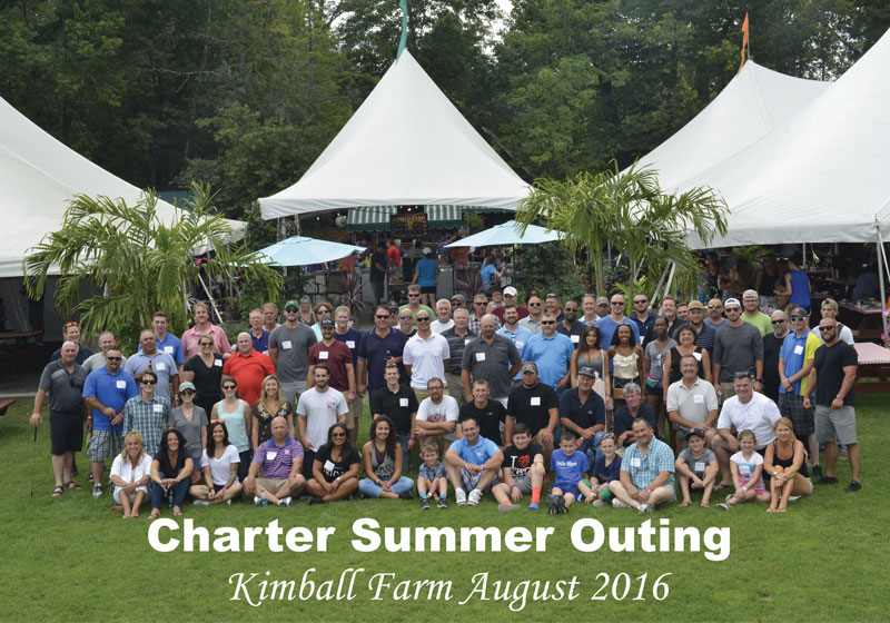 Employees and their families at the Kimball Farm Summer Outing