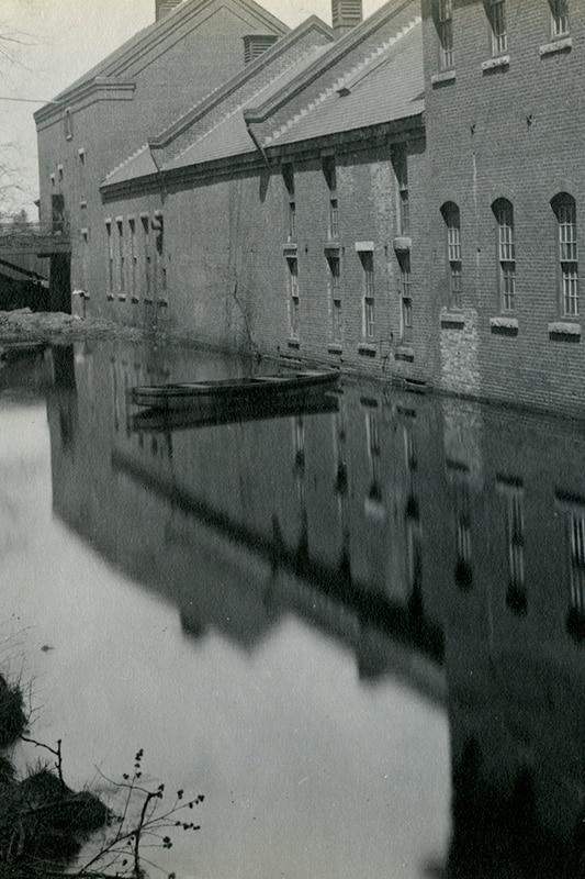 Original black and white image of perkins site