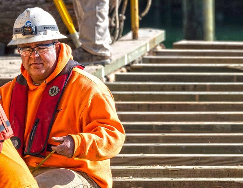 Frank Valadao on job site
