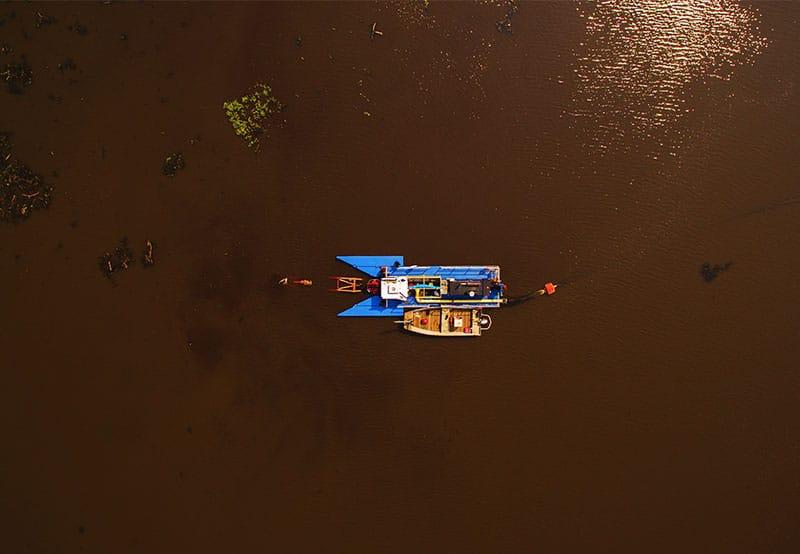 Milford Pond overhead image