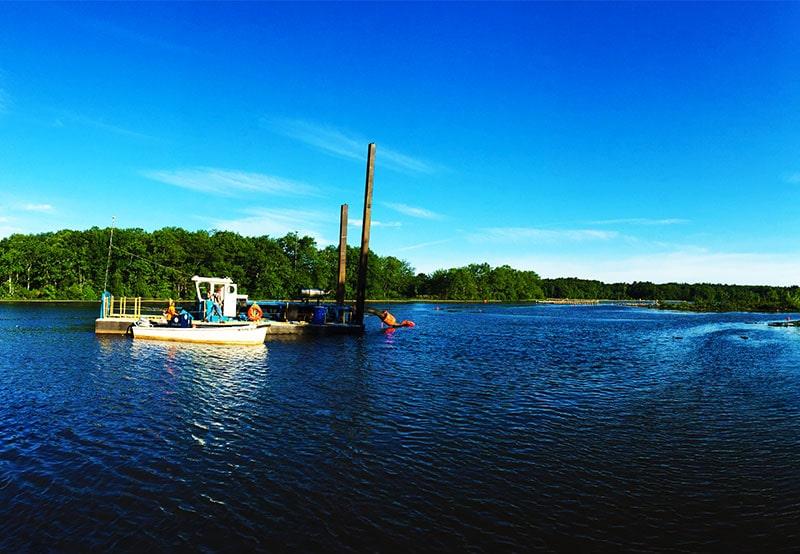 boat on Milford Pond