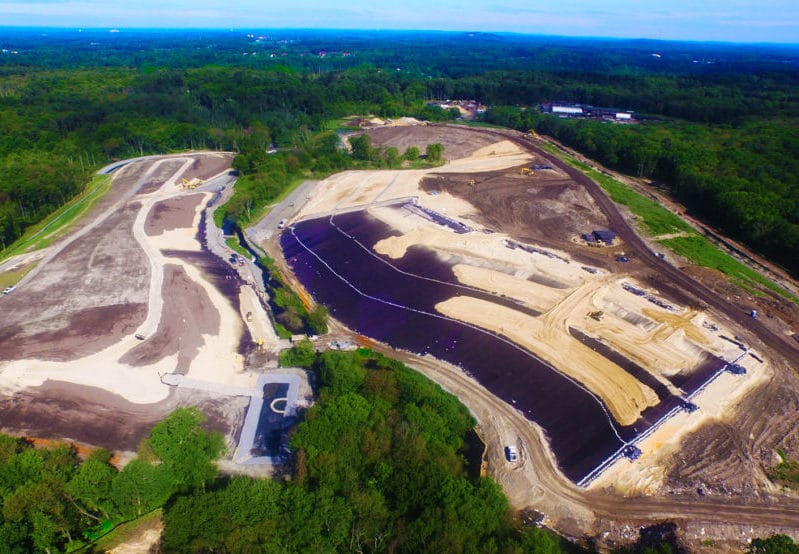 Overhead view of Sutton Brook construction site
